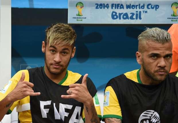 Neymar Daniel Alves Brazil Netherlands 2014 World Cup third-place playoff 07122014
