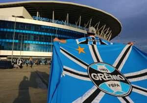 A torcida do Grêmio sente a necessidade de um título. Desde a estreia da Arena, o novo estádio do clube, em dezembro de 2012, nenhuma taça foi levantada na nova casa.