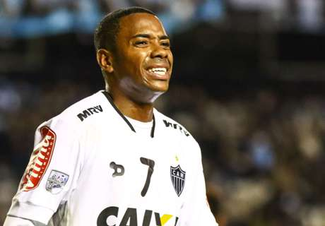 WATCH: Robinho struck by lighter