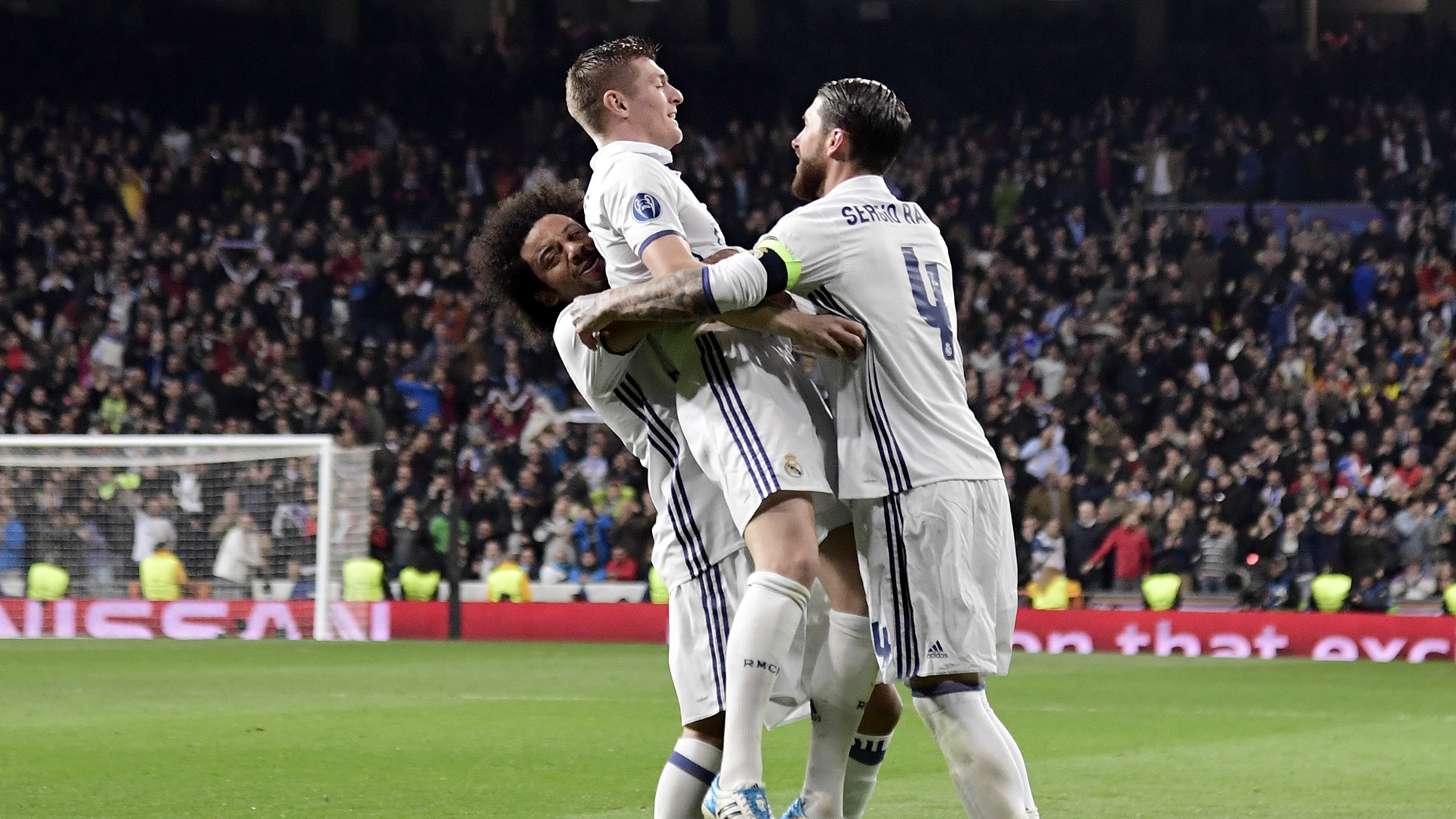 Marcelo Toni Kroos Sergio Ramos Real Madrid Napoli Champions League R16 15022017
