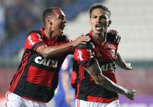Guerrero marcou o 1º do Fla. Crédito:Gilvan de Souza / Flamengo