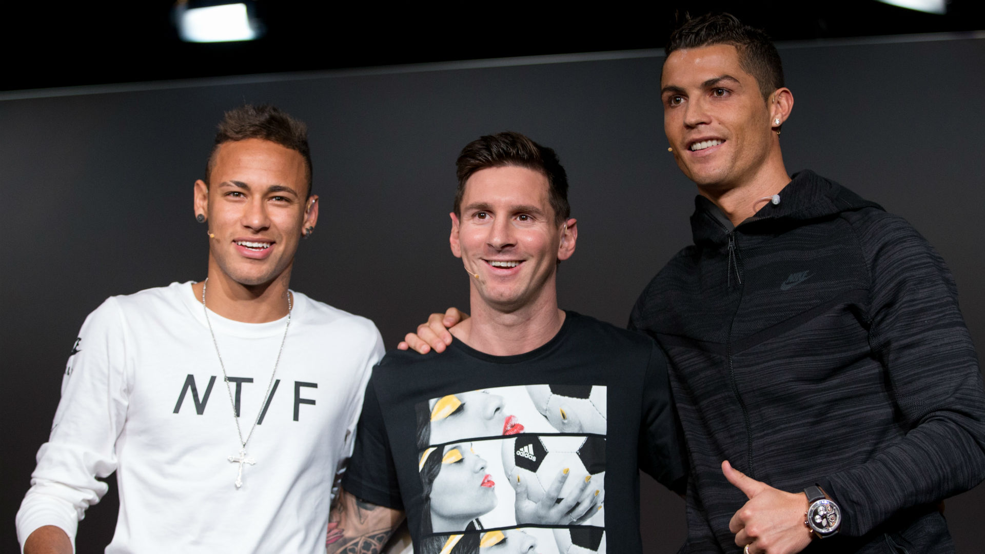 Neymar Messi Cristiano Ronaldo Ballon DOr 2015 13 10 2016