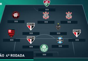 Confira um time formado pelos melhores jogadores de mais uma rodada do Brasileirão 2016, com direito a estatísticas da Opta!