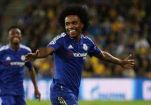Willian fez mais uma boa atuação pelo Chelsea, com dribles (4 no total) e uma linda cobrança de falta, que lhe garantiu um gol