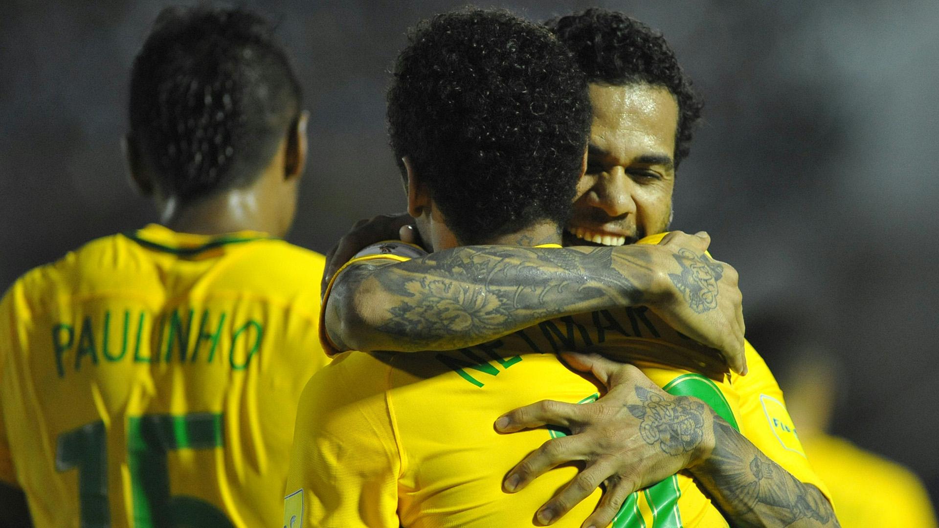 Neymar Dani Alves Uruguai Brasil Eliminatorias 2018 23032017