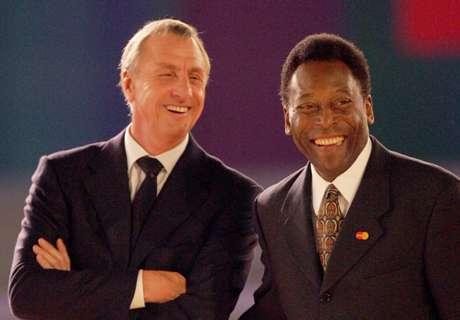 Exclusivo: Pelé homenageia Cruyff