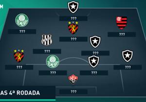 Confira uma equipe montada com jogadores que não tiveram uma boa quarta rodada no Brasileirão