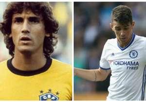 Oscar (zagueiro que defendeu o Brasil na Copa do Mundo de 1982) e Oscar (jogador do Chelsea)