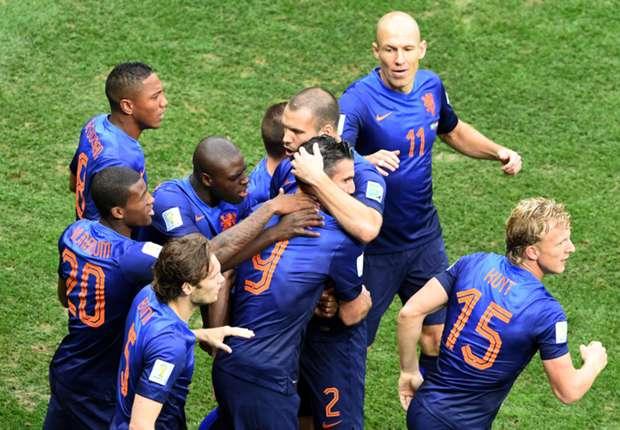 Netherlands celebration Brazil Netherlands 2014 World Cup third-place playoff 07122014