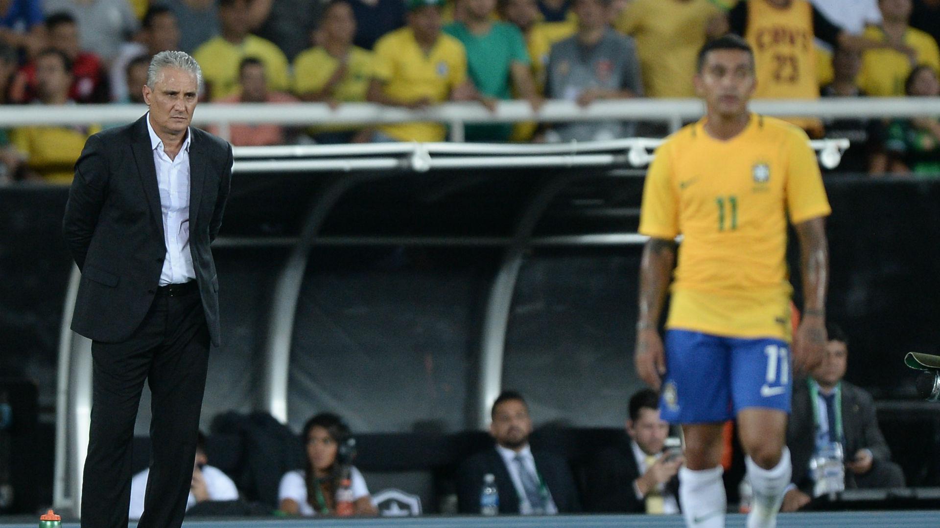 Tite Dudu Brasil vs Colombia amistoso 25 01 2017