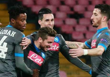UEL: Napoli avança com 100%