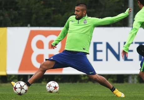Vidal si allena, col Monaco in campo dal 1'