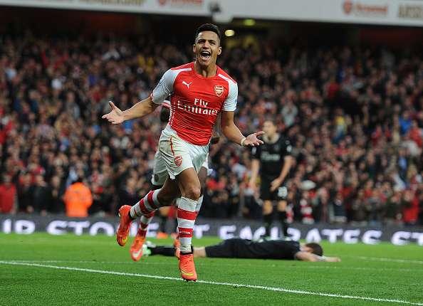 Alexis y la boca llena de gol: lleva 10 en 12 partidos.
