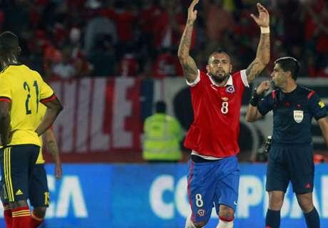 Cile-Colombia 1-1: Vidal e James in goal