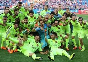 La Liga 2014-2015. Gol en el partido consagratorio contra Atlético de Madrid (1 a 0) para sumar su séptimo torneo doméstico con el club catalán.