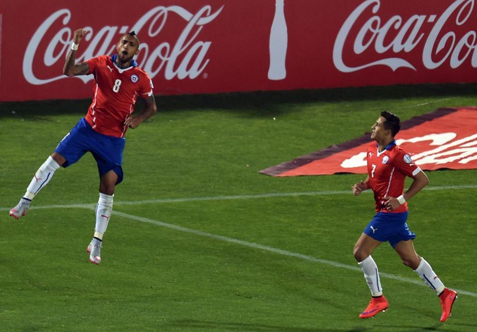 Arturo Vidal festeja
