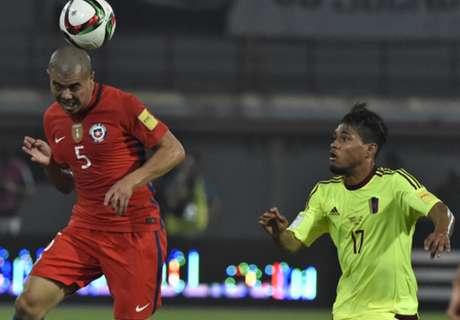 Eliminatorias Sca: Venezuela 1-4 Chile