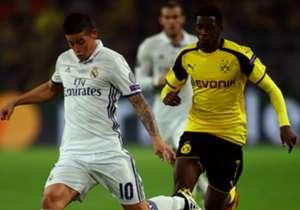 James Rodríguez | Real Madrid vs Borussia Dortmund | Miércoles, 14:45 | El cuadro Merengue recibe en el Bernabéu al BVB para quedarse con el liderato del Grupo F, además de estirar la racha de triunfos de la era Zidane.