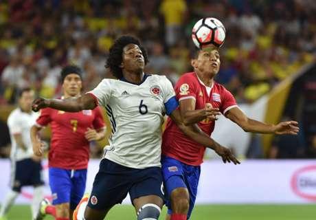 Los números de Costa Rica - Colombia