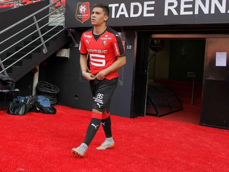 El volante paisa disputó cuatro minutos con el Stade Rennes en la ...