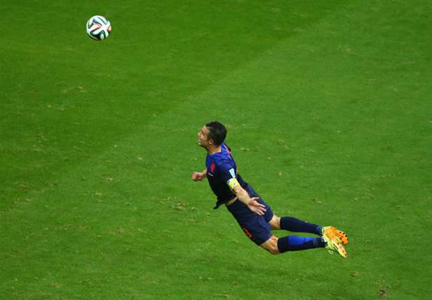 Van Persie hails 'unreal' win over Spain