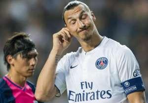 """15. """"Das müssen Sie Ihre Frau fragen."""" - Ein Reporter musste erfahren, dass man Ibrahimovic besser nicht auf frische Kratzer in dessen Gesicht anspricht."""
