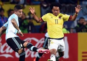 4. JUAN CUADRADO (COLOMBIA). Rojas: 1 | Amarillas: 1 | Partidos: 4 | Puntaje total: 11.