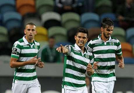 Teo volvió al gol con el Sporting