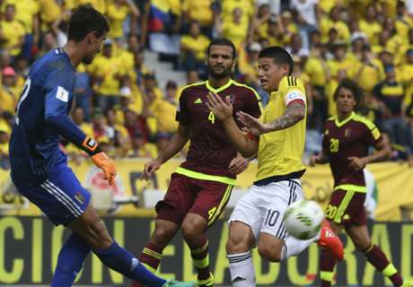 آسبريا يكرر نقده لزيدان بفضل هدف خاميس في فنزويلا