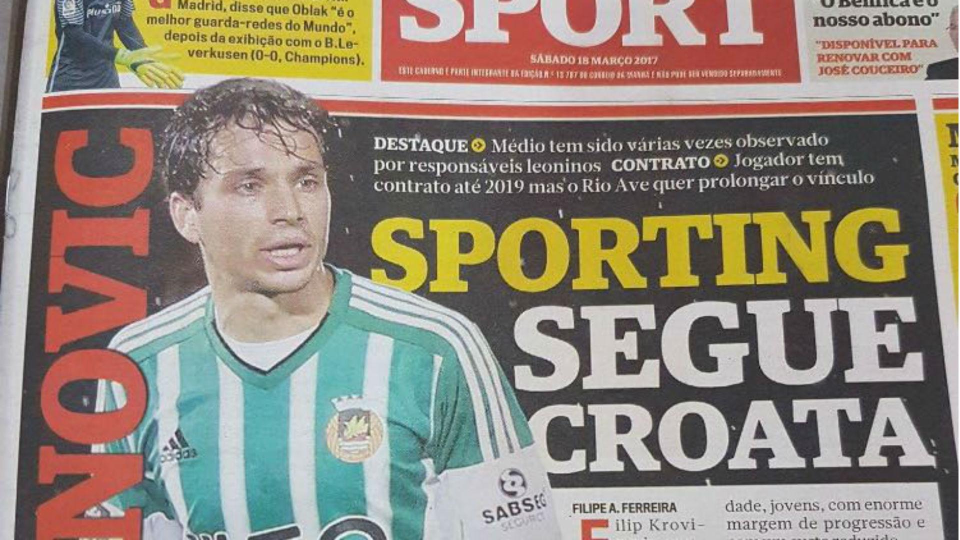 Krovinovic Correio Sport