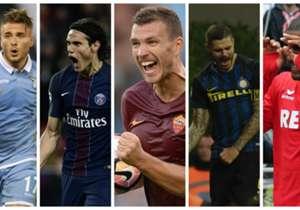 AS Roma-aanvaller Edin Džeko heeft als eerste speler in de top 5 Eureopese competities de barrière van tien doelpunten geslecht. Welke topschutters liet hij achter zich?