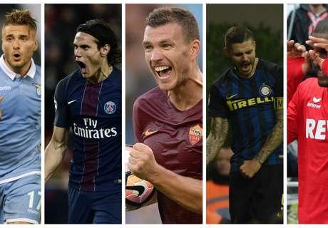Cavani, Messi et le Top 10 des meilleurs buteurs en championnat