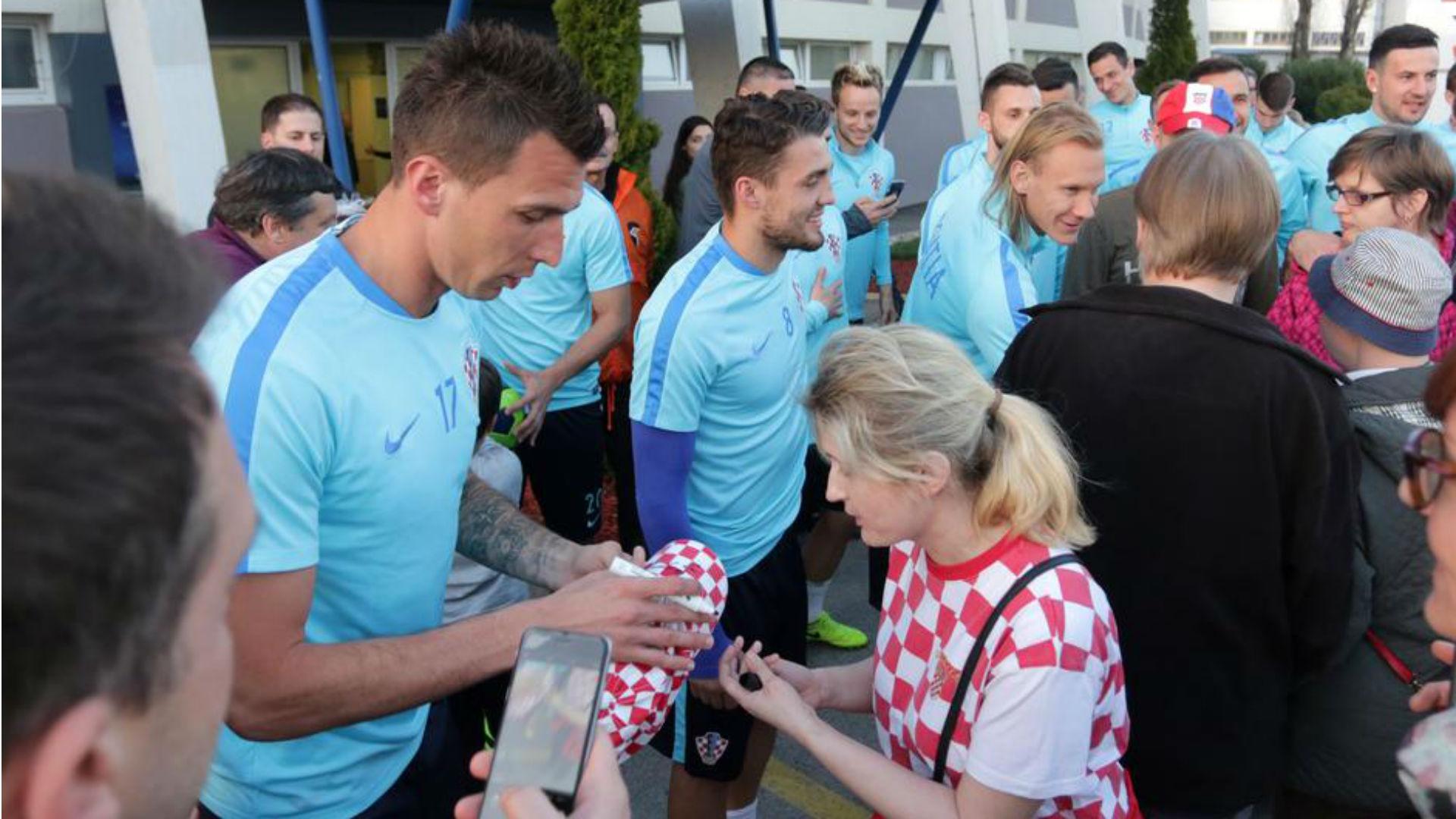 Mario Mandzukic Mateo Kovacic Domagoj Vida Croatia