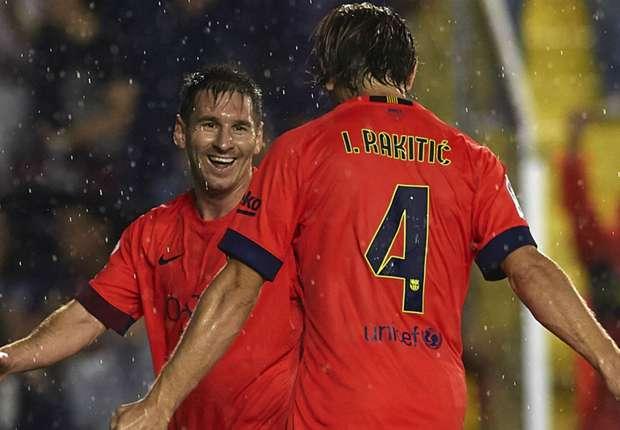 Bejubelte seinen ersten Pflichtspiel-Treffer für Barca: Ivan Rakitic