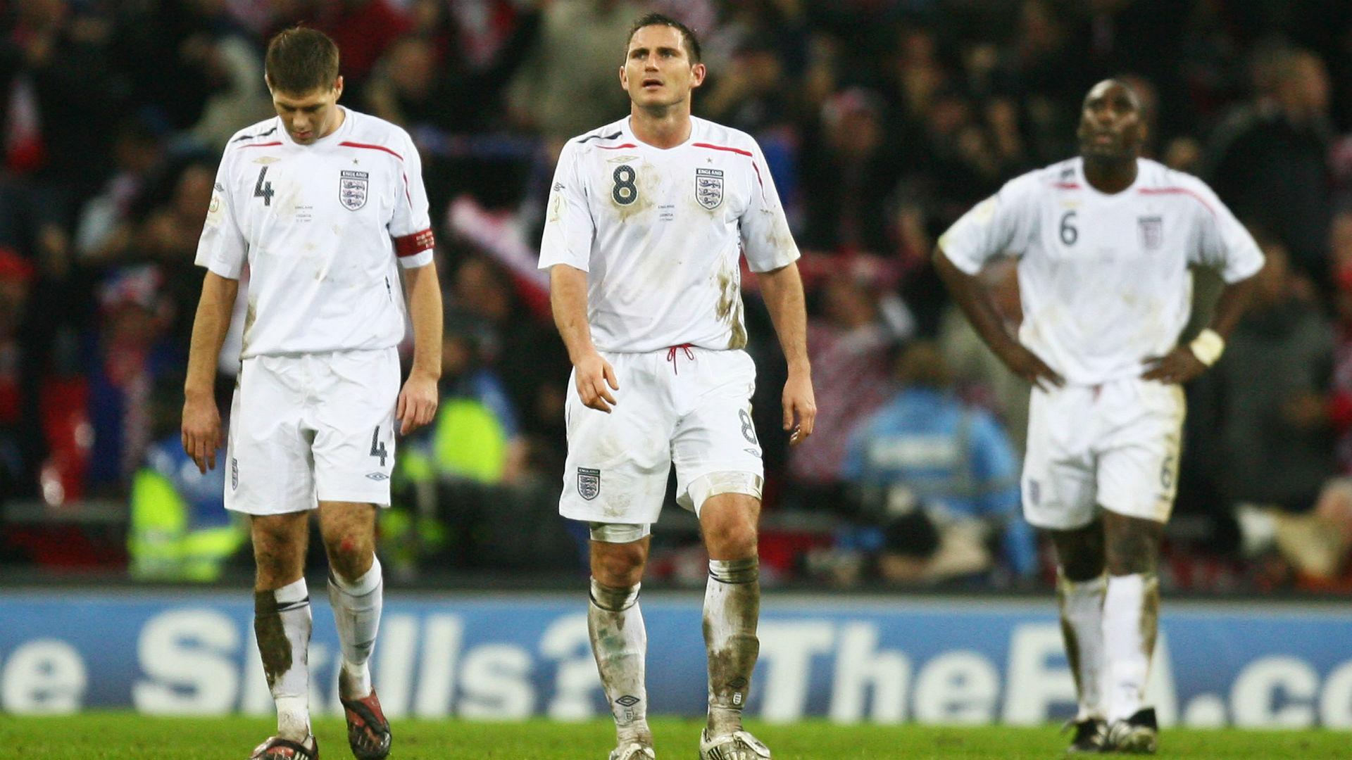 gerrard lampard - england croatia - euro 2008 qualifier - 21112007