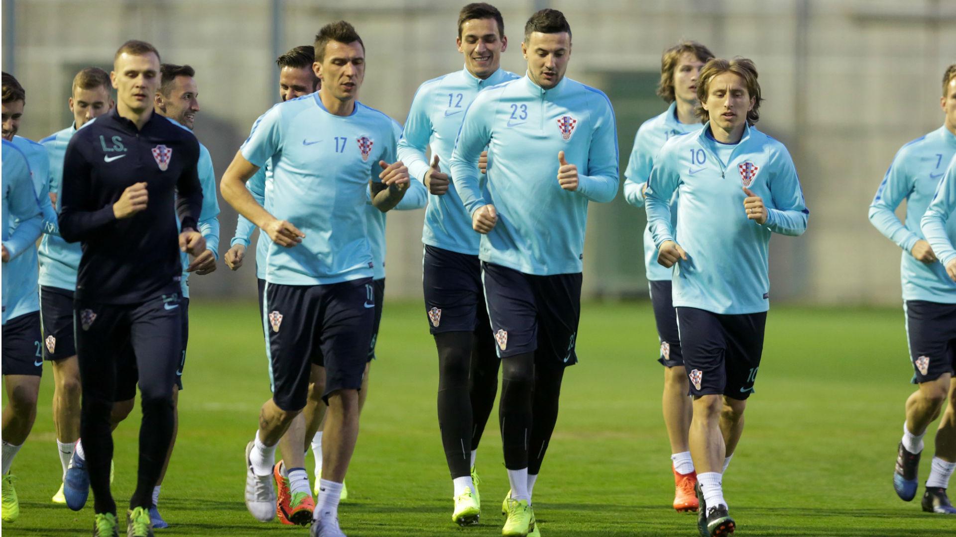 Mario Mandzukic, Danijel Subasic, Luka Modric Croatia