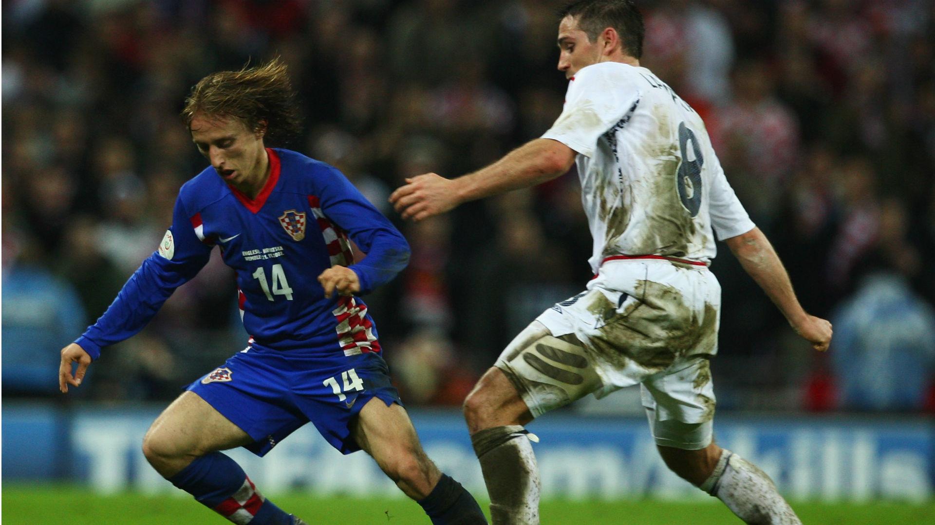 luka modric frank lampard - england croatia - euro 2008 qualifier - 21112007