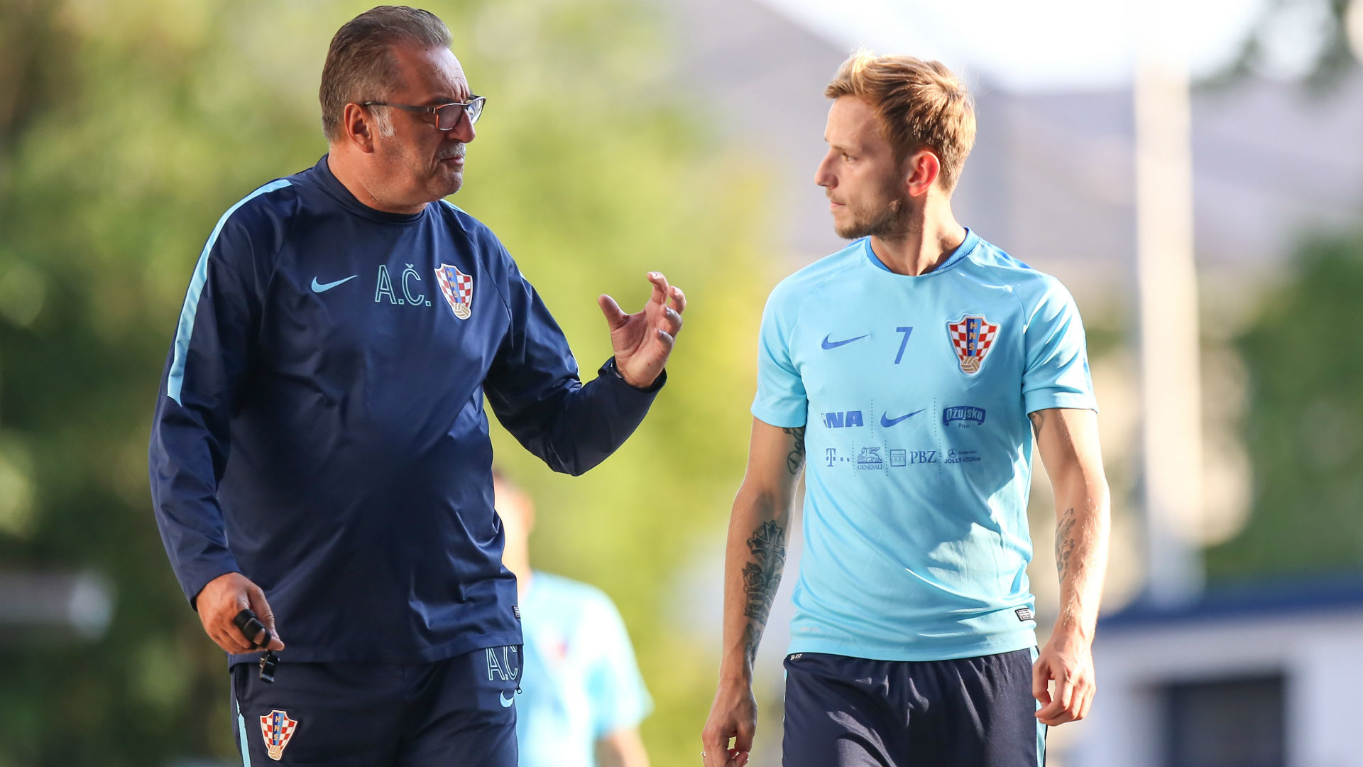 Ivan Rakitic Ante Cacic Croatia training