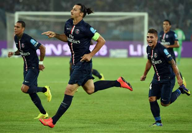 Paris Saint-Germain 2-0 Guingamp: Ibrahimovic double secures Super Cup spoils