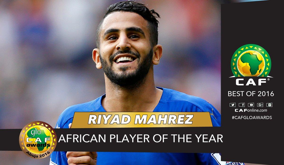 الجزائري محرز أفضل لاعب إفريقي 2016