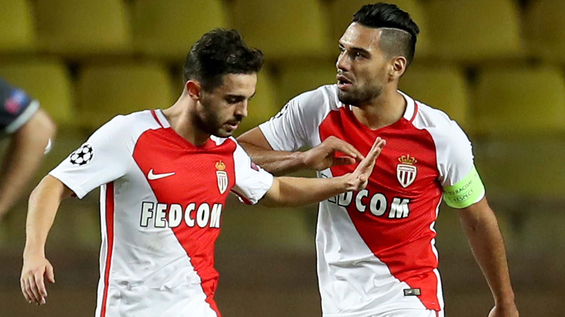 Bernardo Silva Radamel Falcao AS Monaco CSKA Moscow UEFA Champions League 02112016