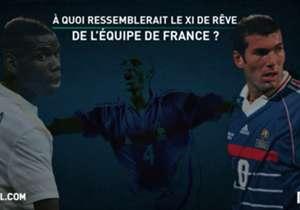 Ils ont remporté l'Euro ou la Coupe du monde, ont marqué les esprits par leurs buts, leurs performances ou leur leadership... Goal vous présente les meilleurs joueurs - toutes générations confondues - de l'Équipe de France et les associe dans une équip...