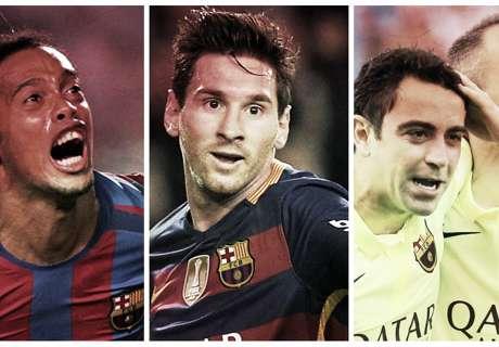 Les 20 meilleurs joueurs de l'histoire du Barça