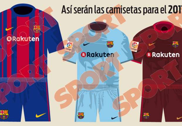 International les maillots du bar a pour 2017 2018 for Maillot barca exterieur 2017