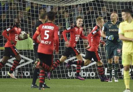 Nantes-Rennes 1-2, résumé de match