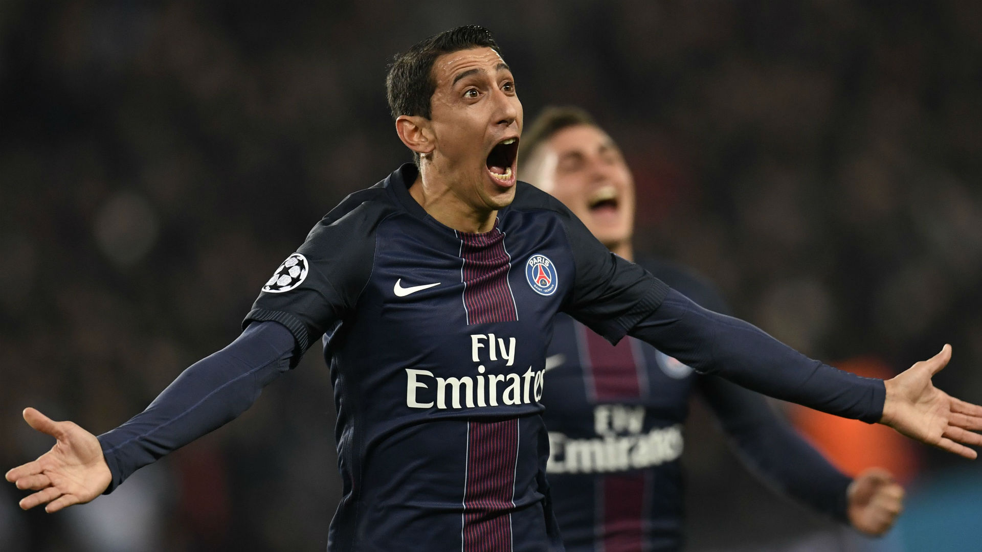 Angel Di Maria Paris SG FC Barcelona UEFA Champions League 14022017