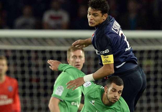 Thiago Silva Valentin Eysseric Paris SG Saint-Etienne Ligue 1 25102015