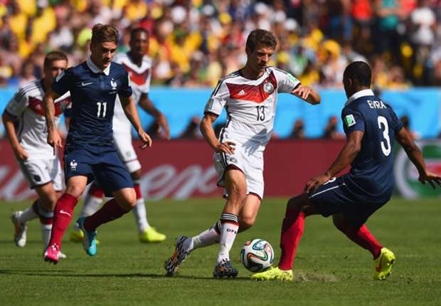 Thomas Muller Patrice Evra France Germany World cup 2014 07042014