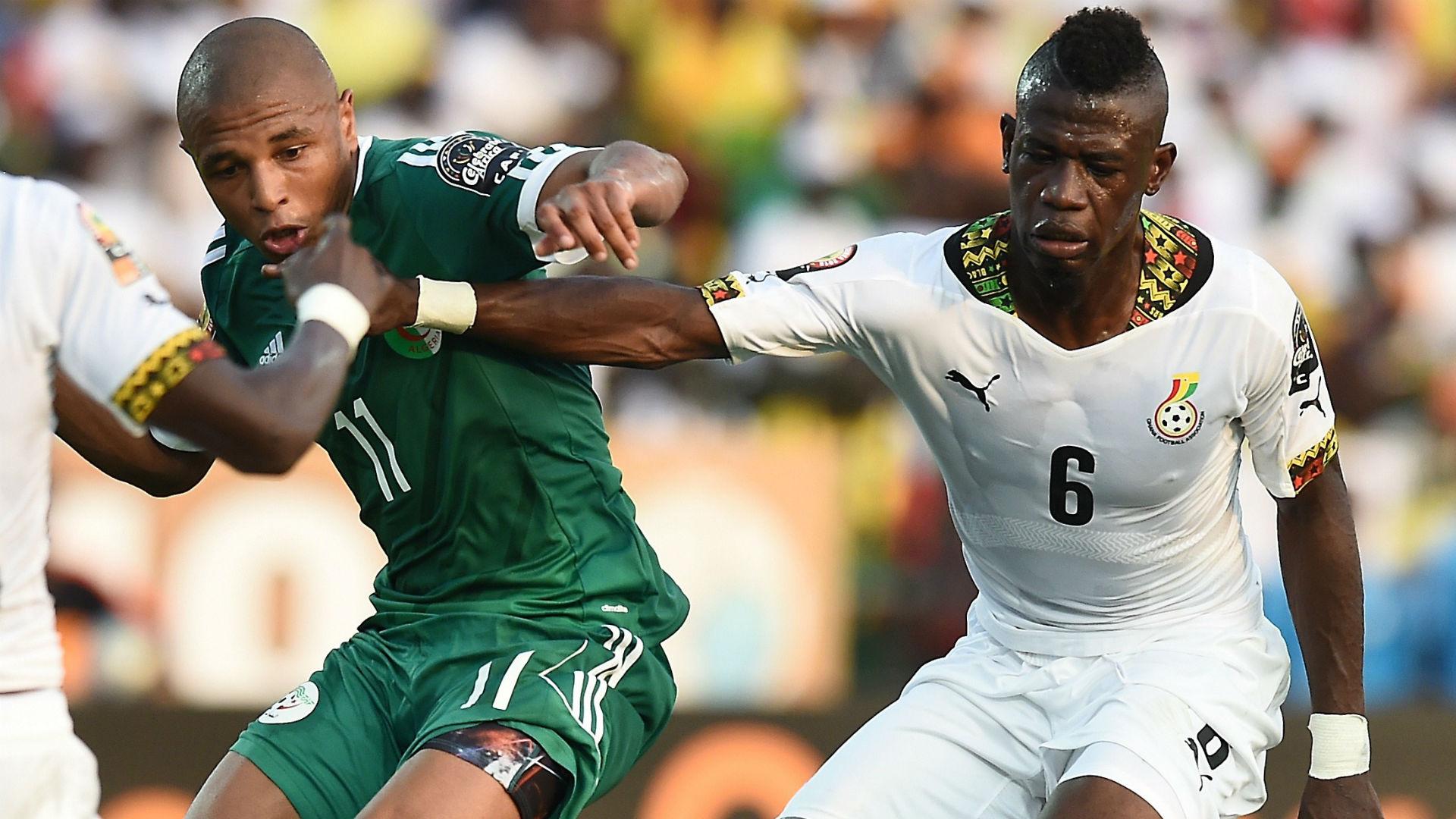 Yacine Brahimi Afriyie Acquah Ghana Algeria CAN 2015