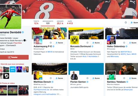 Quand Ousmane Dembélé suit Dortmund sur Twitter